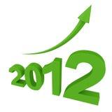 2012年增长 图库摄影