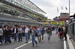 2012年意大利蒙扎坑superbike结构 免版税库存照片