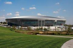 2012年欧洲竞技场的donbass准备 库存图片