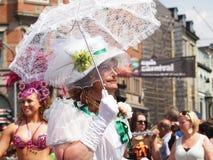 2012年狂欢节哥本哈根参与者 库存照片