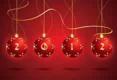 2012年球圣诞节向量 库存图片