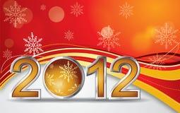 2012年球圣诞节向量 库存照片