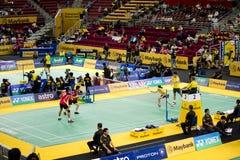 2012年羽毛球冠军开放的马来西亚 库存照片