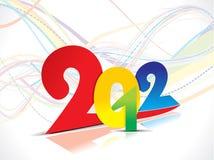 2012年背景五颜六色的新一轮年 免版税库存照片