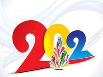 2012年背景五颜六色的新年度 库存照片