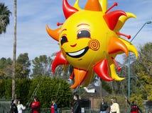 2012年节日碗游行大Inflatables 库存照片