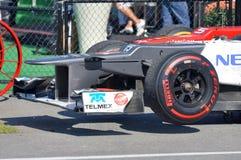 2012年赛跑sauber翼的汽车f1前面 库存图片