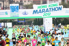 2012年香港马拉松 免版税库存照片