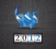 2012年龙origami向量 库存照片