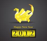 2012年龙origami向量 图库摄影