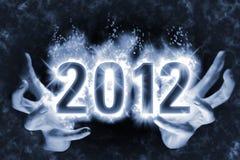 2012愉快的魔术新的咒语年 库存图片