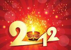 2012抽象背景展开新年度 图库摄影