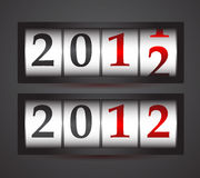 2012数字式向量 免版税库存照片