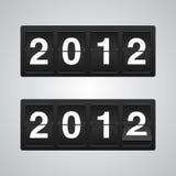 2012新的向量年 免版税库存图片