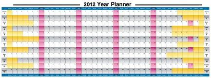 2012新的计划程序年 免版税库存图片