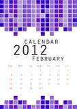 2012日历2月 库存照片