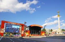 2012欧元风扇kyiv区域 图库摄影