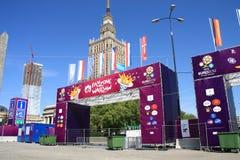 2012欧元fanzone 库存照片