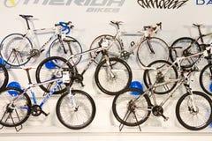 2012辆自行车欧亚大陆商展moto 免版税库存照片