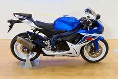 2012辆自行车欧亚大陆商展moto 免版税图库摄影