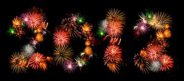 2012 πυροτεχνήματα Στοκ εικόνες με δικαίωμα ελεύθερης χρήσης