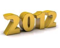 2012 золотистое Стоковые Изображения RF