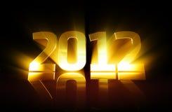 2012 золотистое иллюстрация штока