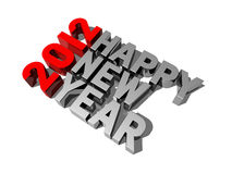 2012 счастливых Новый Год иллюстрация штока