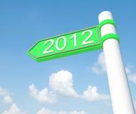 2012 счастливых Новый Год Стоковое Изображение RF
