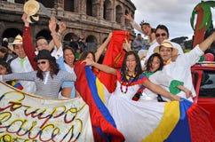 2012年狂欢节意大利罗马 免版税图库摄影
