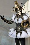 2012年狂欢节说笑话者威尼斯 库存照片