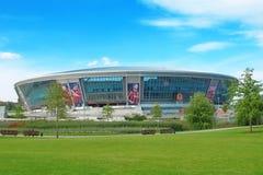 2012年竞技场donbass欧洲橄榄球新的体育场 免版税库存照片