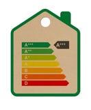 2012年纸板能源房子标签 免版税库存图片