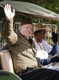 2012年节日碗游行陆军退伍军人 免版税库存照片