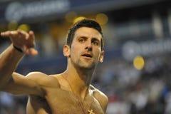 罗杰斯杯子2012年(0)的Djokovic Novak赢利地区 免版税库存图片