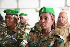 2012_12_12_AMISOM_Female_Peacekeepers' Conference-13 Stock Photo