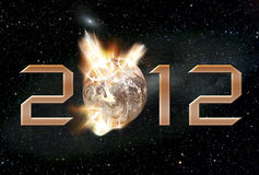 2012. Illustration depicting the world destructing in the year 2012 Stock Photography