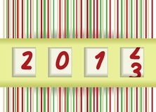 2012-2013. Change, New year vector illustration Royalty Free Stock Photo