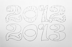 2012 and 2013 stock images