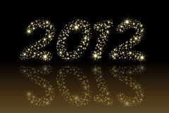 2012. Christmas / new year 2012 shiny starry numbers Vector Illustration
