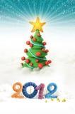 2012年圣诞树 库存照片