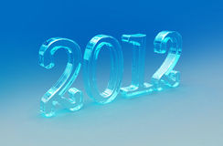 2012. Digital illustration of New year 2012 in colour background Vector Illustration