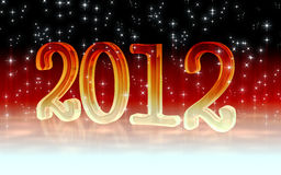 2012. Digital illustration of New year 2012 in colour background Royalty Free Illustration