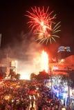 2012年下来曼谷计数新的泰国年 库存照片