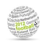 2012 3d球橄榄球 库存例证