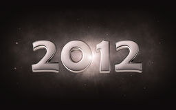 2012 - 3d silver date Royalty Free Stock Image