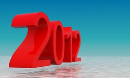 2012 3d text rendering. 2012 3d text model rendering Stock Image