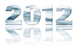 2012 años con la reflexión Fotos de archivo