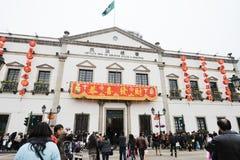 2012 Años Nuevos chinos en macau Foto de archivo libre de regalías