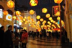 2012 Años Nuevos chinos en macau Imágenes de archivo libres de regalías